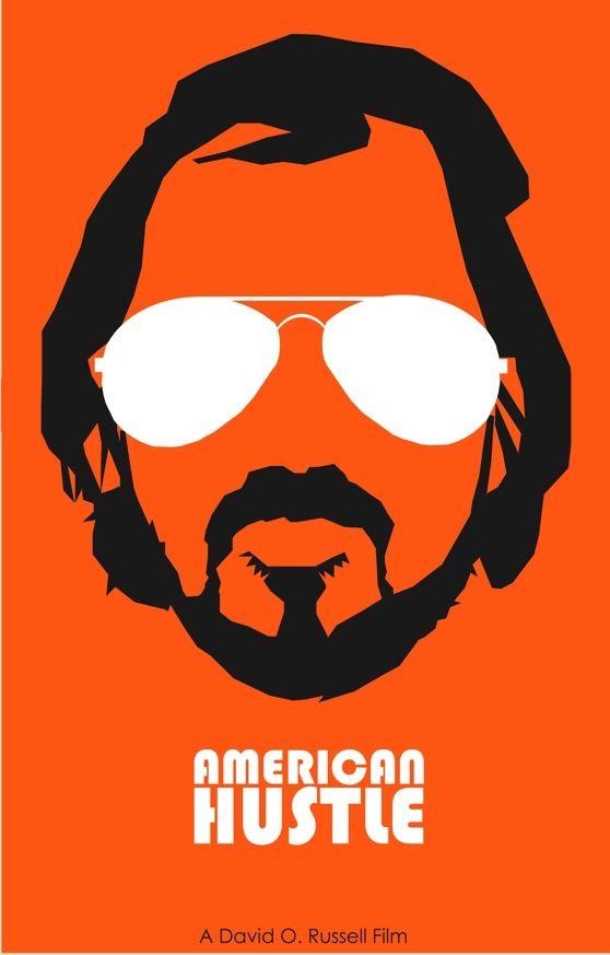 American Hustle (2013) ~ Minimal Movie Poster by Joe Fries ~ 2014 Oscar Nominees #amusementphile
