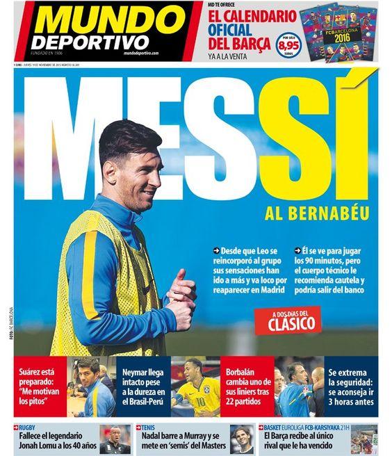 "Mundo Deportivo on Twitter: ""Sí al Bernabéu #portada #deportes https://t.co/H6YjKvvO3o https://t.co/nw3h7qLLnY"""