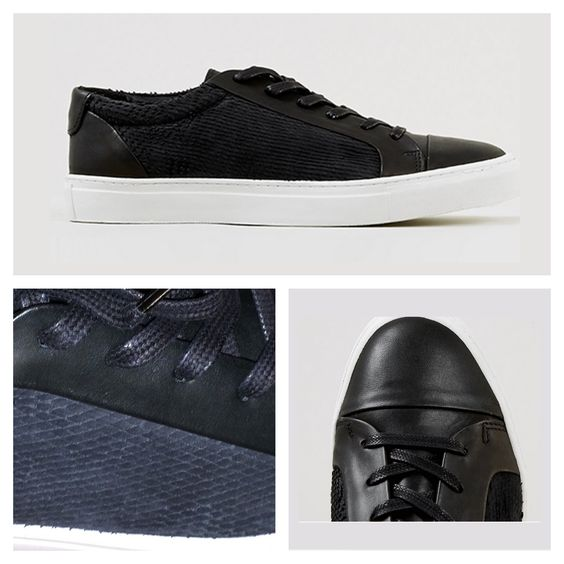 Black leather sneakers, with slash parts, from Topman | 90€ | 130 $