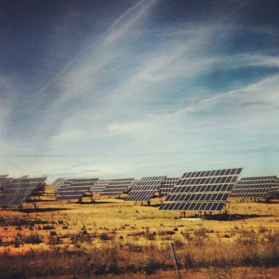 Solar photovoltaic panels in Spain.