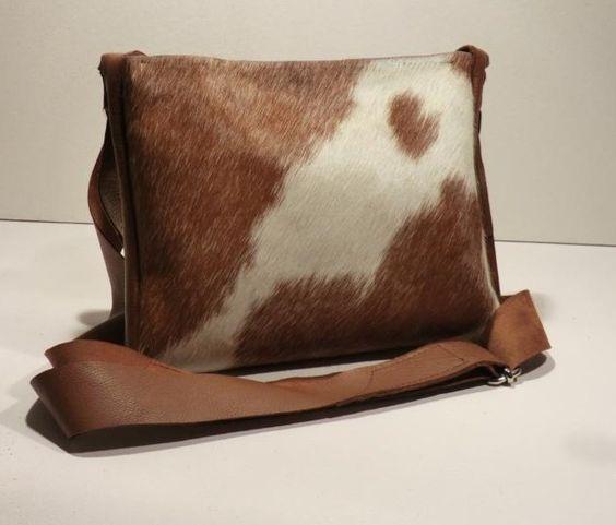 """KUHIE, Kuhfelltasche """"Heidi"""" in braun-weiß von Gmischtesach:  Die Tasche mit der Kuh !! auf DaWanda.com"""