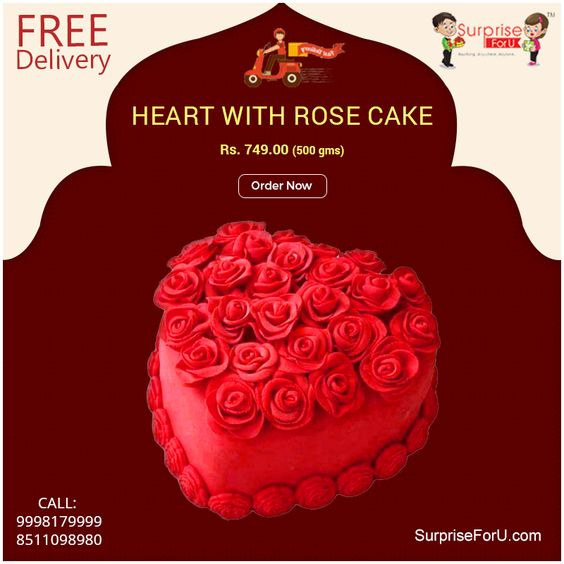 Celebrate the Anniversary, Birthdays & all the special occasions by ordering cake with different variety of shapes & flavours... ☏ For Pre order contact 9998179999, 9974098980 ☏ For Corporate Enquiries, Contact @ 9426518499 #SurpriseForU #AnniversaryCake #BirthdayCake #WeddingCeremonyCakes #Cake #OnlineCake #FreeDelivery #Flavours #Ahmedabad