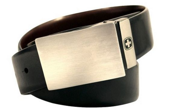 Swiss Gear Black Leather Belt