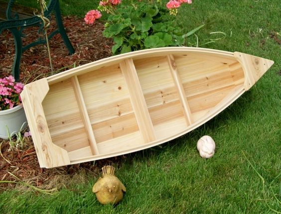 Garden boxes nautical and landscapes on pinterest - Wooden garden ornaments ...