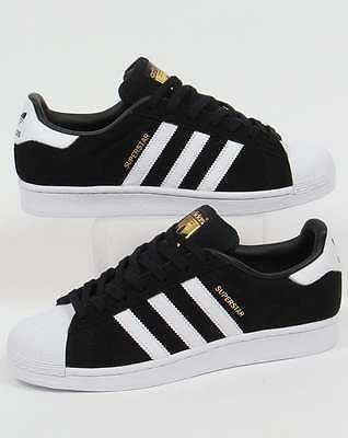 Adidas Originals Adidas Superstar Suede Trainers in Black