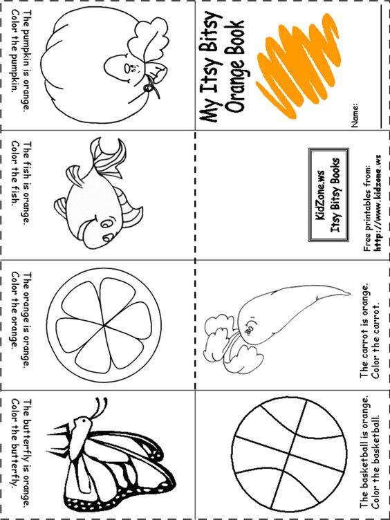 Orange Worksheets for Preschoolers | Color Orange Book | Home ...