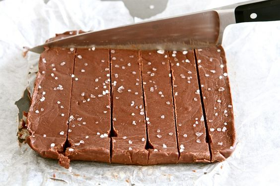 Must try for Christmas. Nutella & Sea Salt Fudge.