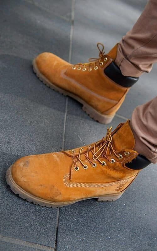 Matthias Geerts My yellow boots | Timberland boots
