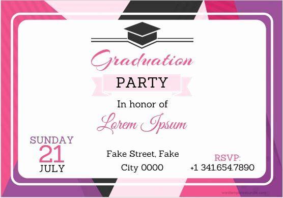 Graduation Invitation Templates Microsoft Word Lovely 10 Best Graduation Pa In 2020 Graduation Invitations Template Invitation Templates Word Graduation Card Templates