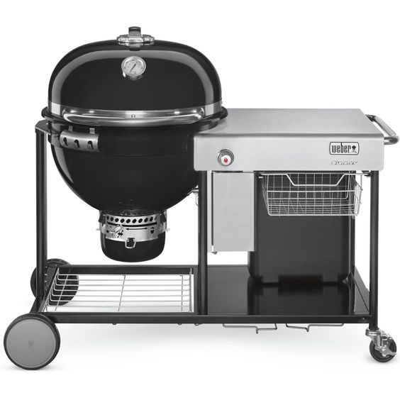 Weber Summit 24 Inch Charcoal Grilling Center Black 18501001 Bbqguys Charcoal Grill Weber Charcoal Grill Weber Grill