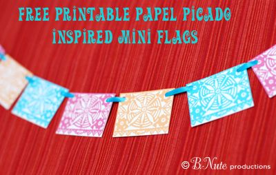 papel picado free printable and banners on pinterest. Black Bedroom Furniture Sets. Home Design Ideas