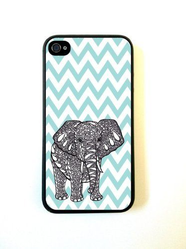 Tiffany Blue Chevron Elephant iPhone 4 Case - For iPhone 4 4S 4G by wholesale center, http://www.amazon.com/dp/B00DNUBJ4U/ref=cm_sw_r_pi_dp_21ftsb1TJZ9DE