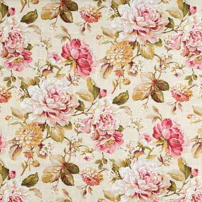 Covington Belle Fleur Tea Rose Fabric: