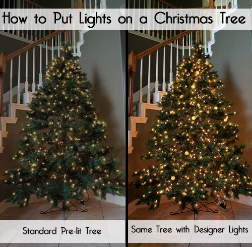 The First Step To Decorating A Christmas Tree Whether Fresh Or Artificial Should Be Putting On The Christm Christmas Lights Christmas Tree Lighting Christmas