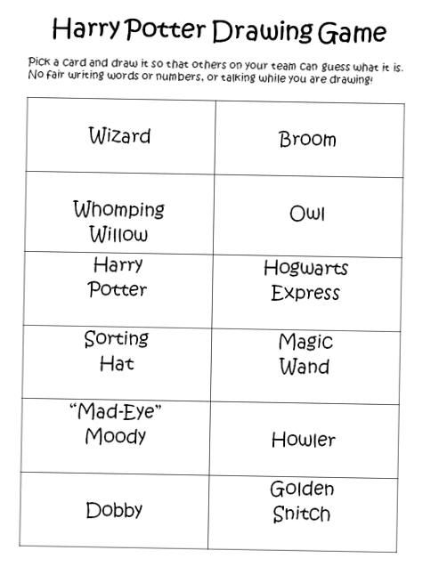 Find Timesaving Printable Templates For All Ages Includes Games To Play Based On The Harry Potter Books Name Generator Polyjuice Potion Game And Harry Potter