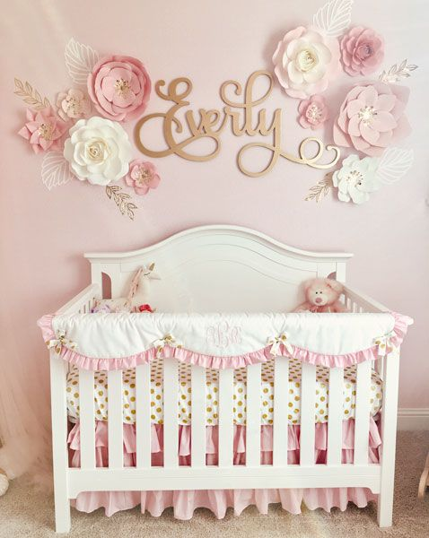 A Pink And Gold Nursery For Baby Everly Pink Gold Nursery Baby Girl Nursery Pink Girl Nursery Pink