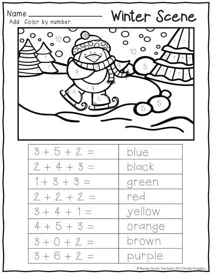 January (winter) Print and Do- 1st grade no prep math and literacy practice