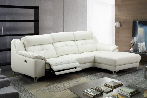 Contemporary L Shape Electrical Recliner Sofa Set With A One Touch System Built In Usb In 2020 Contemporary Leather Sofa Joy Furniture Sofa Set