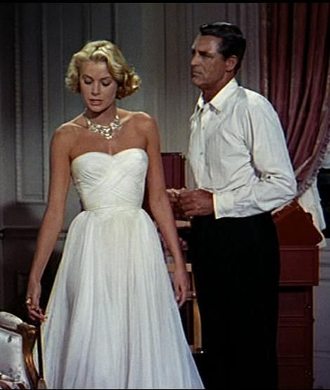 Grace Kelly To Catch a Thief. epic dress. so beautiful. Amazing vintage beauty