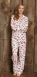 "Hatley Nature Women's ""Hens and Chicks"" Cotton Jersey Pajama Set $88 - SHOP https://www.thepajamacompany.com/store/pajama/womens-pajamas/2348/pajama-sets"