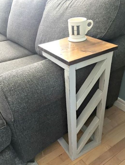 22 Wooden Shape Side Table Designs For Living Room Arm Sofa Diy Sofa Table Diy Sofa Rustic Wooden Headboard