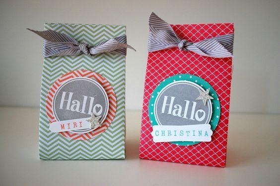 Stampin' Up Verpackung #Hallo