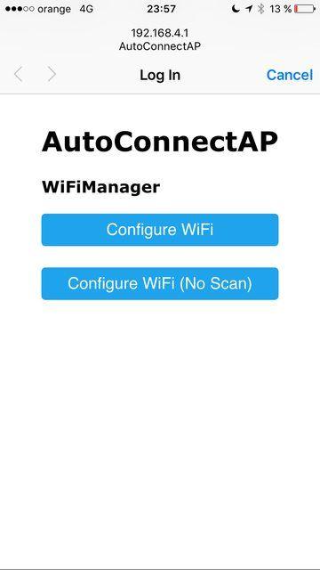 ESP8266 WiFi Captive Portal Homepage