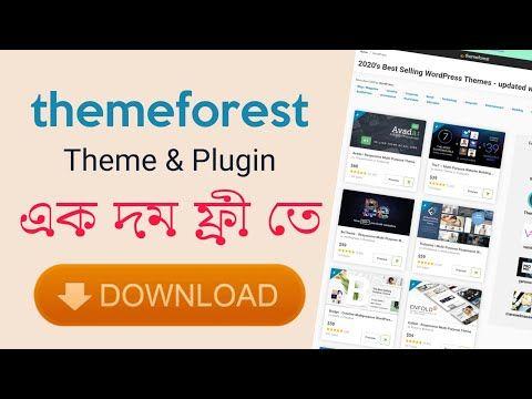 How To Free Download Wordpress Premium Theme Plugin Themeforest Envato Marketplace 2020 Wpded Youtube Wordpress Premium Plugins Avada Theme