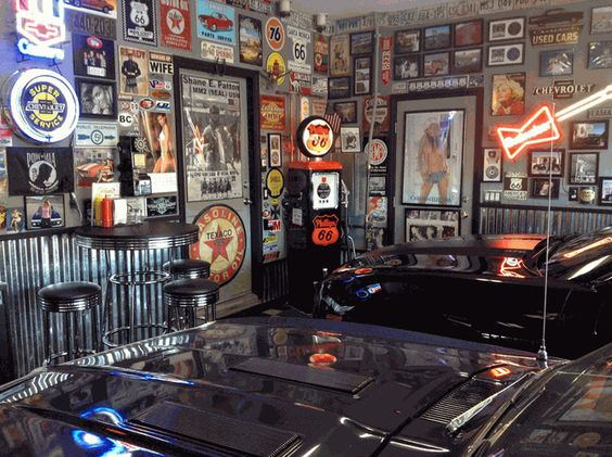 Old Garage Man Cave : Car guy garage cool shop stool garages