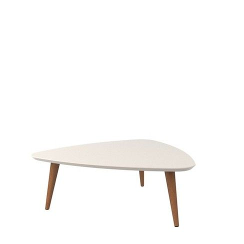 11 81 Utopia High Triangle Coffee Table With Splayed Legs Manhattan Comfort Triangle Coffee Table Coffee Table Coffee Table White
