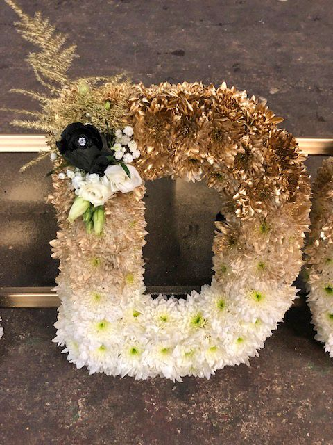 Ombre Letters Funeral Flowers Rodgers The Florist Manchester Flower Arrangements Funeral Flowers Sympathy Floral