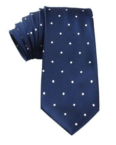 Navy Blue Polka Dots Tie | Shop Online Ties | Necktie Melbourne | OTAA
