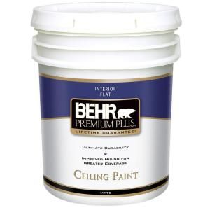 BEHR Premium Plus 5-gal. Flat Interior Ceiling Paint-55805 at The Home Depot