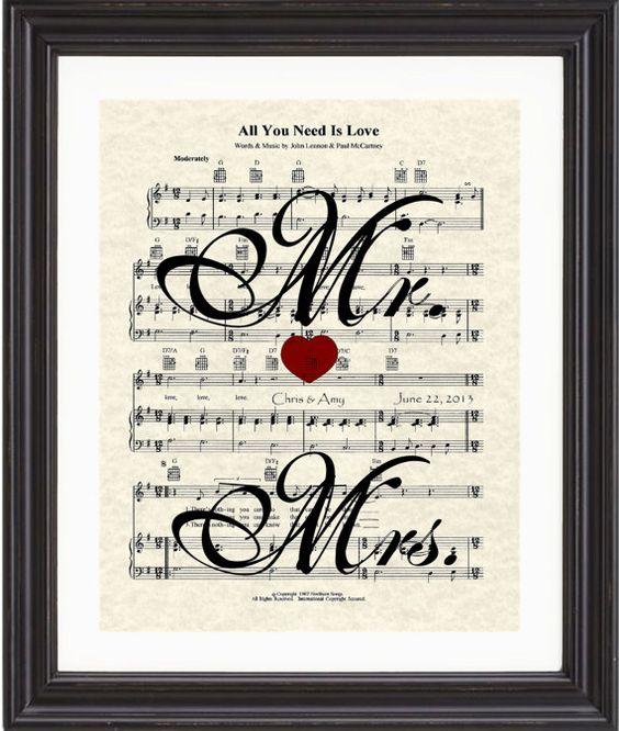 Custom mrs names date wedding song first dance