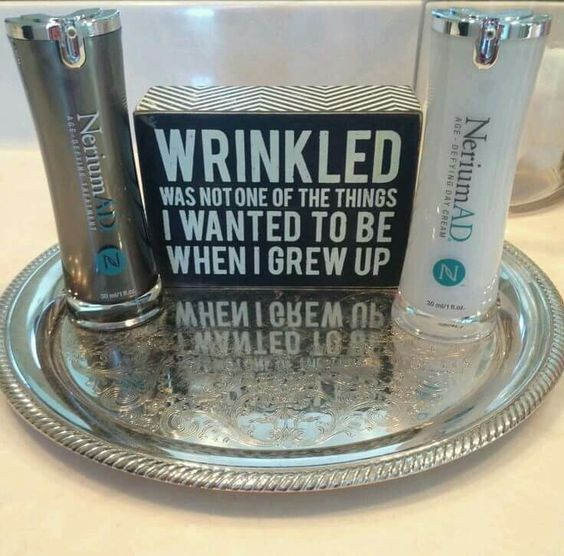 Wrinkled was not one of the things I wanted to be when I grew up Www.hebe.Nerium.com