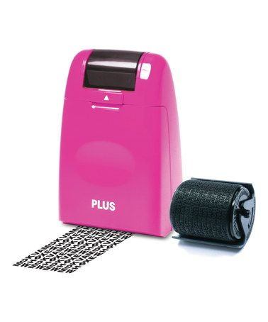 Good thing to have around!   Pink Guard Your ID Roller Stamp on #zulily! #zulilyfinds