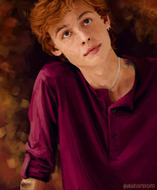 Vagueenthusiast A Young Charlie Weasley Starry Eyed And Freshly Scarred After His First Run In Wi Ron Weasley Fan Art Harry Potter Fan Art Harry Potter Anime