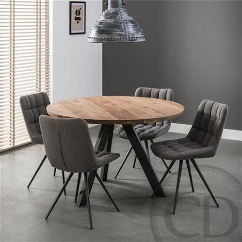 Table De Cuisine Ronde Industrielle Pieds Metal Sur Cdc Design Table Ronde Cuisine Table Salle A Manger Table Et Chaises