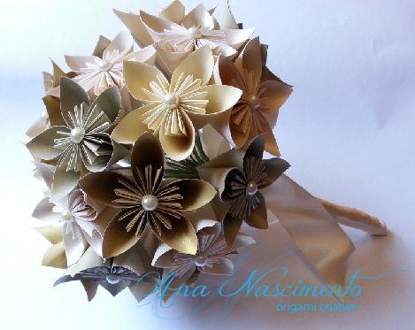 Lindo bouquet de casamento feito em tons de dourado!!!