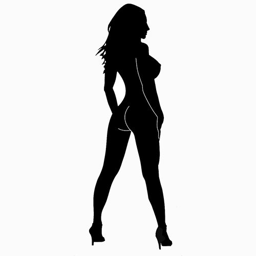 Erotic Stickers Sexy Silhouette Die Cut Vinyl Decal PV - Anime guns decalssexy anime girl with big gun for car decal by skywallvinyldecals