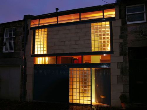 Front Elevation Lights : Glass blocks the s and art deco on pinterest