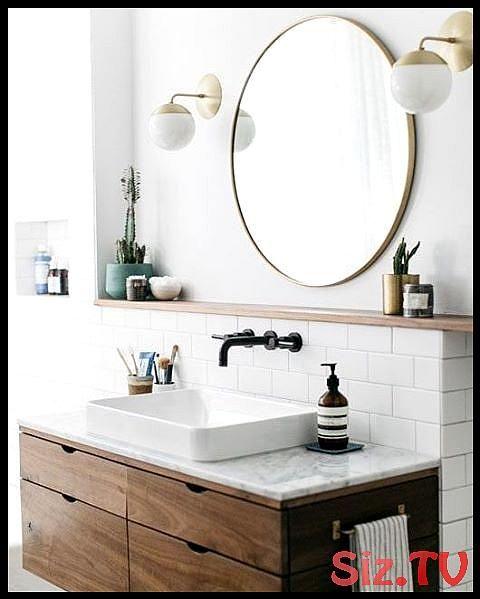 Badezimmer Ziele Auch Im Bad Darf Es Auf Trendigen Materialien Nicht Fehlen Au Moderne Badezimmer Schranke Runde Badezimmerspiegel Badezimmer Accessoires