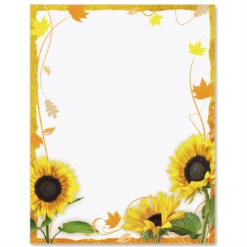 Sunflower Surprise Border Papers | Paper and Sunflowers