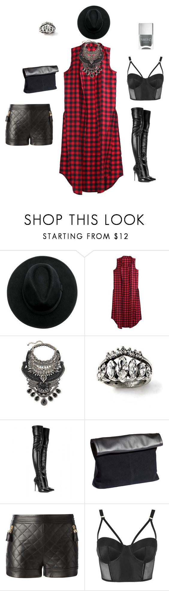fashion express by sidoney-sterling on Polyvore featuring Moschino, Topshop, Alexander McQueen, H&M, DYLANLEX and Nails Inc.