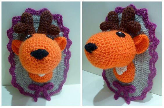 L'Atelier de Nionii : DIY crochet trophée tête de cerf  Crochet deer head