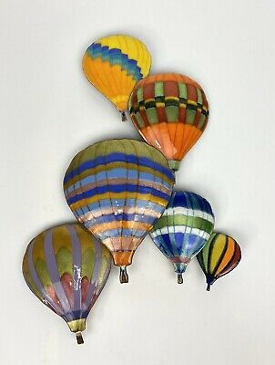 Six Hot Air Balloons In Flight Wall Sculpture By Bovano Of