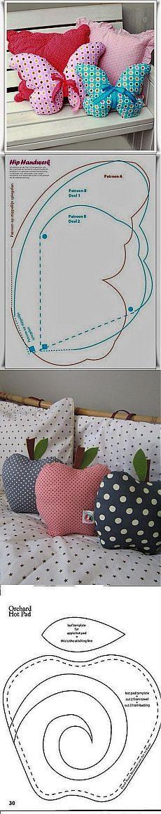 Идеи для подушек + ВЫКРОЙКИ / Разнообразные игрушки ручной работы / PassionForum - мастер-классы по рукоделию: