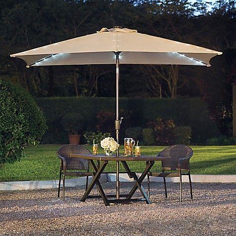 11 Foot Rectangular Aluminum Solar Patio Umbrella Patio Patio Umbrella Solar Patio