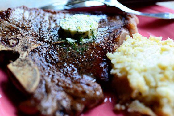 T-Bone Steaks with Hotel Butter