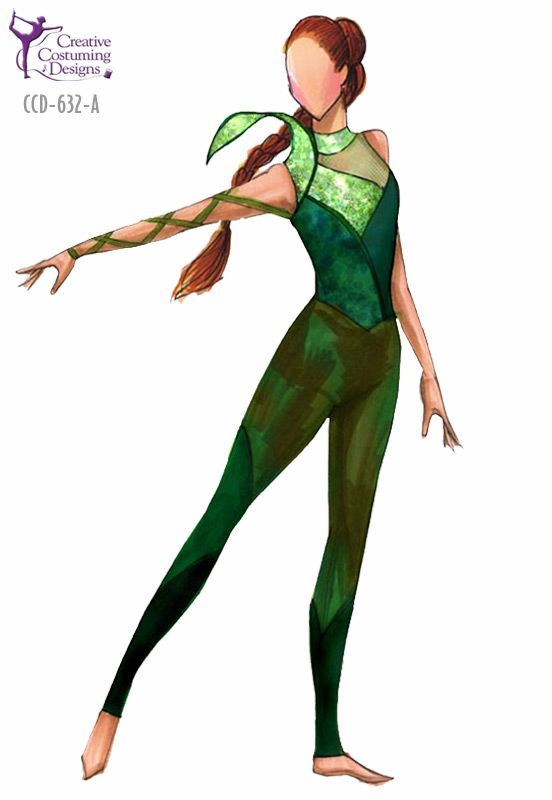 Show Idea Poison Ivy With Images Color Guard Costumes Creative Costuming Designs Color Guard Uniforms
